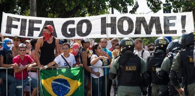 احتجاجات في البرازيل ضد كأس العالم