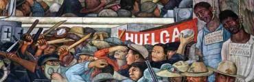 """قطعة من جدارية """"إنسان على مفترق طرق"""" للفنان دييجو ريفييرا"""