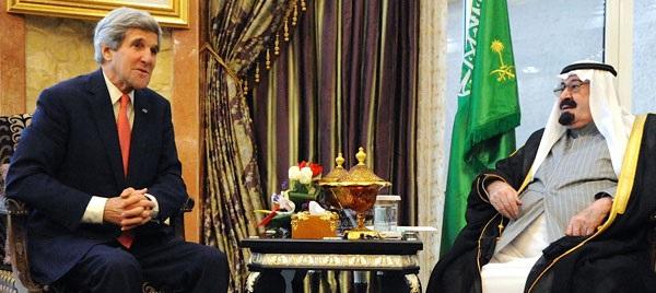 الملك عبد الله وجون كيري