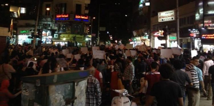 """مسيرة جبهة """"ثوار"""" بميدان التحرير لإسقاط قانون التظاهر والإفراج عن المعتقلين"""