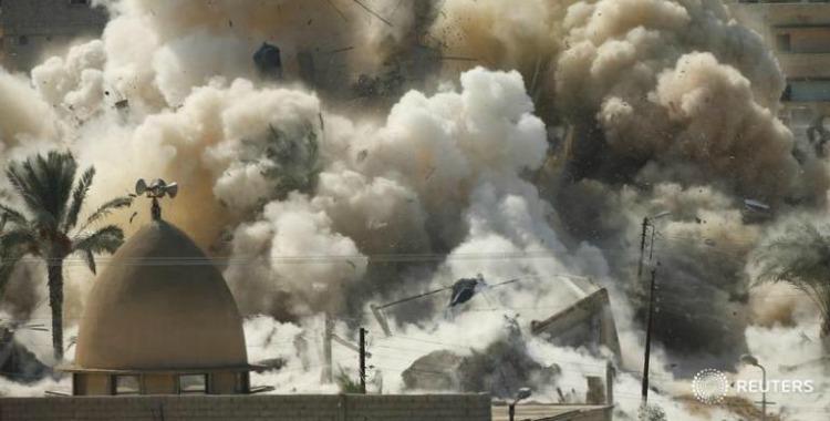 تفجير منازل أهالي رفح المصرية المهجّرين قسرًا