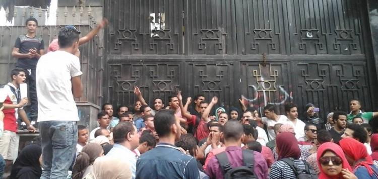 من احتجاجات طلاب الثانوية العامة