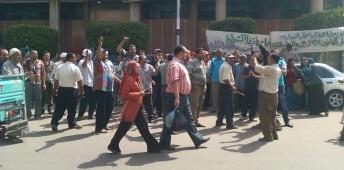 مظاهرة لعمال النقل العام بالشرقية - سبتمبر 2014