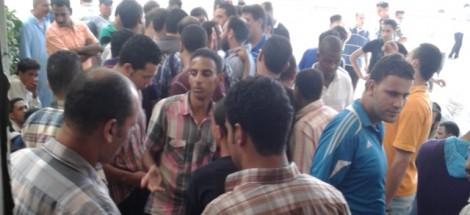 عمال شركة البوادي ببرج العرب