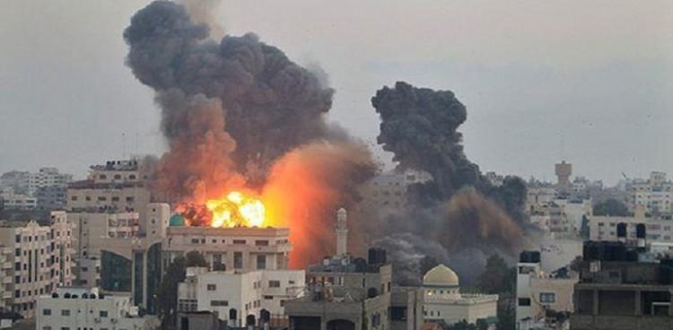 غارة جوية اسرائيلية على بيت حانون شمالي غزة