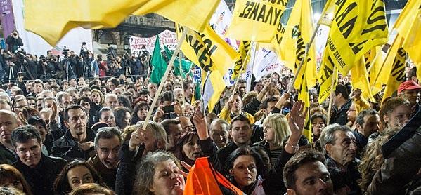 مظاهرات مؤيدة لسيريزا - اليونان