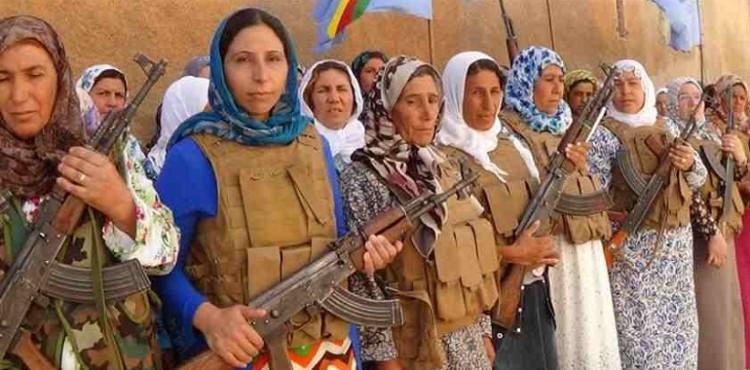 مقاتلات المقاومة في كوباني