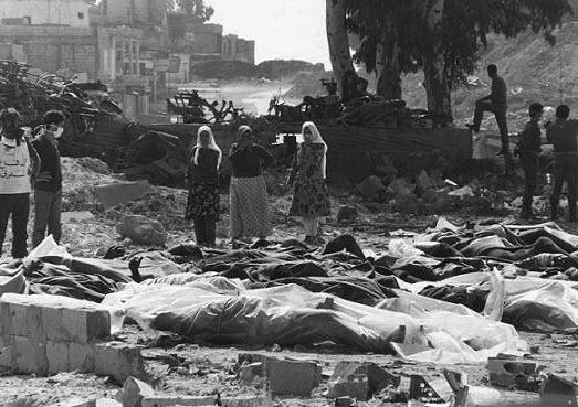"""2012 08 12 tl lztr  - """"Algunas de las masacres de civiles palestinos luego de la fundación del ente sionista de Israel en 1948"""""""