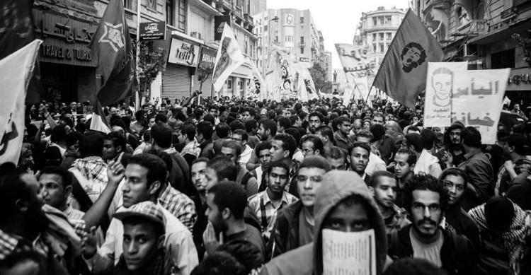 مسيرة جبهة ثوار في وسط القاهرة