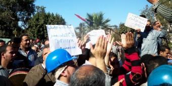 اعتصام عمال حلوان للحديد والصلب