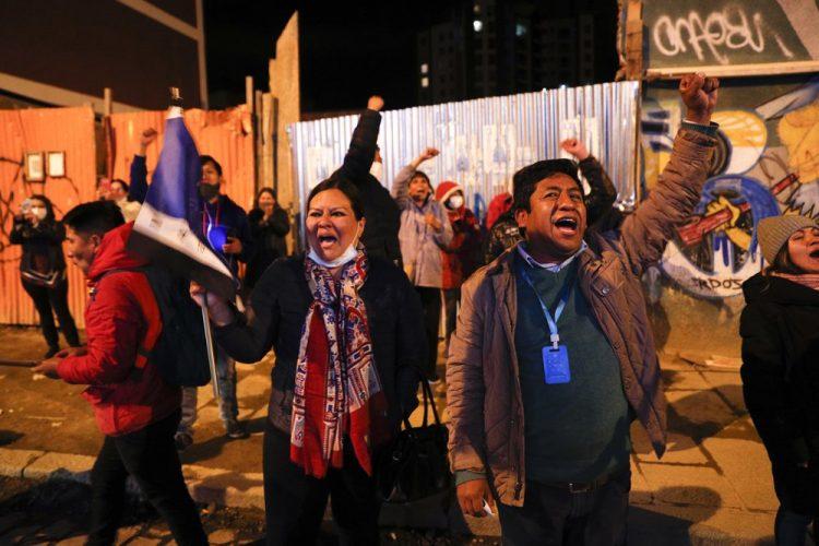 أنصار حزب الحركة الاشتراكية يحتفلون بالنصر الانتخابي