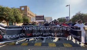 اعتصام طلاب الجامعة الأمريكية بالقاهرة