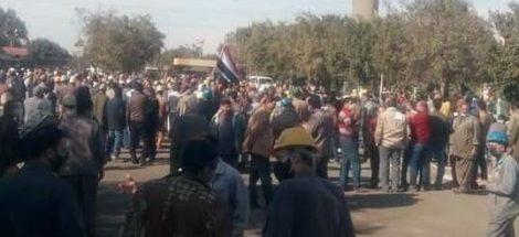 اعتصام عمال الحديد والصلب ضد التصفية - يناير 2021