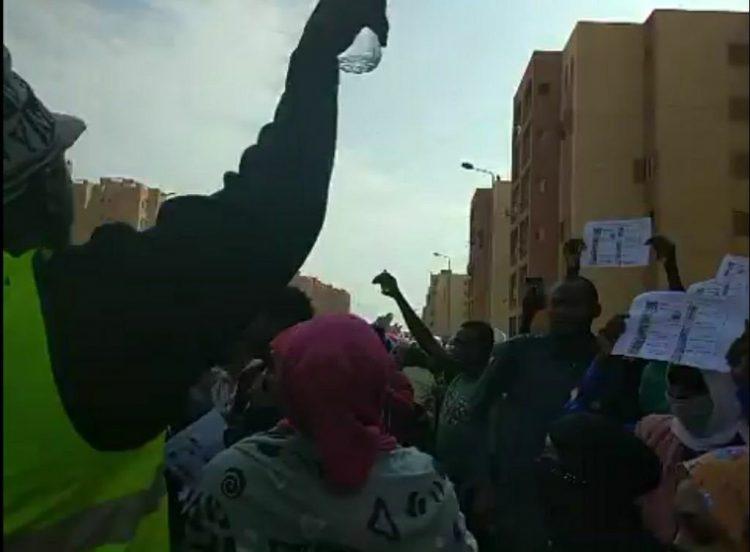 من احتجاجات اللاجئين السودانيين على مقتل الطفل محمد حسن، مطلع نوفمبر 2020