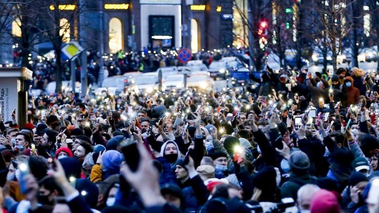احتجاجات روسية ضد بوتين