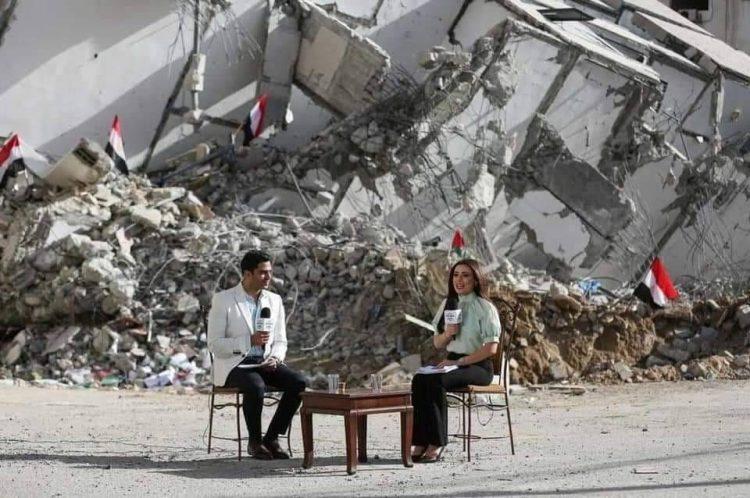 الإعلام المصري في غزة