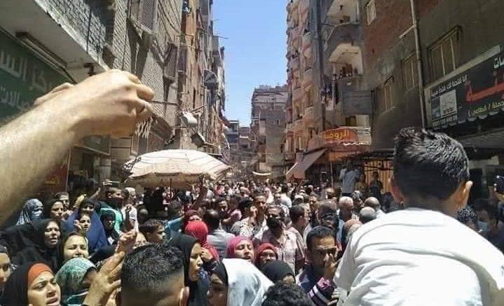 مظاهرة عزبة نادي الصيد - الإسكندرية - يونيو 2021