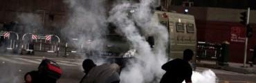 اشتباكات بين المتظاهرين وقوات الأمن المركزي