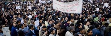 من ميدان التحرير خلال اعتصام الثمانية عشر يومًا - تصوير حسام الحملاوي