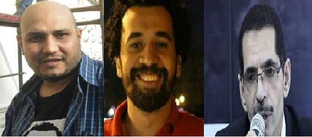 من اليمين إلى اليسار: أحمد عبد العزيز وإسلام عشري وحسام السويفي