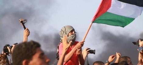 من مسيرات العودة الكبرى شرقي قطاع غزة - صورة أرشيفية