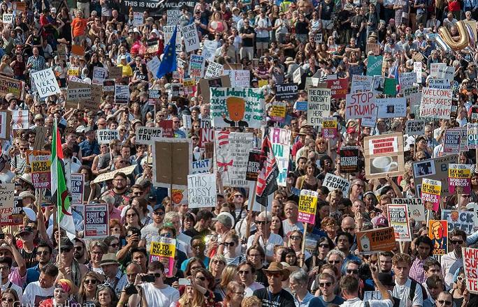 مظاهرات لندن ضد زيارة ترامب